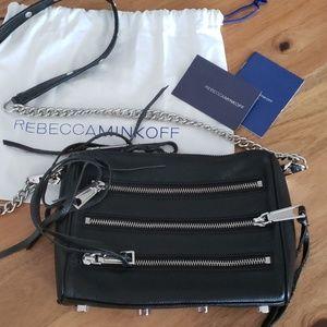Rebecca Minkoff 5 zip mini mac crossbody
